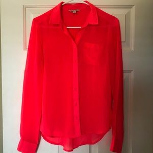 Coral American Eagle button up blouse